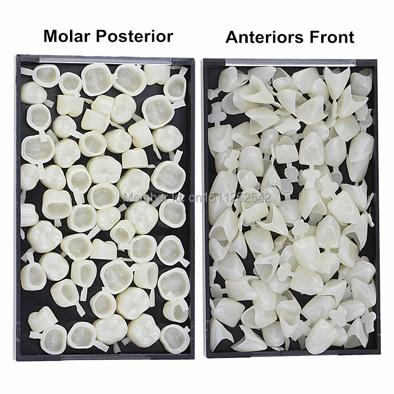 Teeth Whitening Beauty & Health 3 Packs Dental Materials Mixed Type Temporary Crown Molar Posterior Veneer Nature Color Teeth Dentist Products