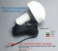 STOTON GPS 5V,G7020 chip DIY Custom Connectors,Mushroom shaped case,GPS receiver,RS 232 GPS receiver9600bps,for marine boat