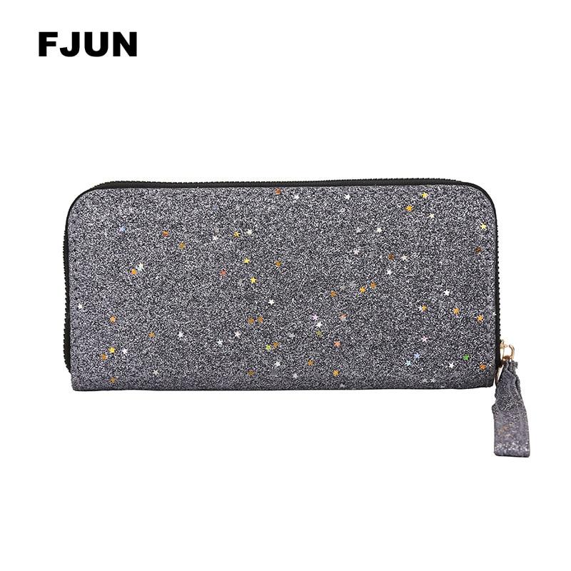 FJUN 2018 Fashion Women Wallets Bling Powder Shiny Short Lady Purse Adorable Card Holder Cute Purse Brand Glitter Flip Wallet