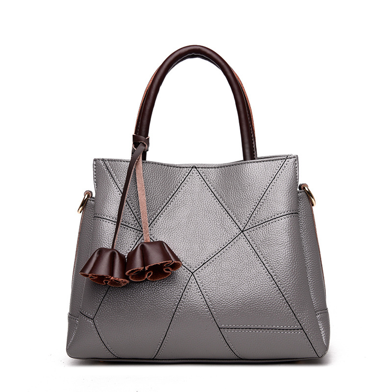 Ladies Fashion 2018 Patchwork Women Shoulder Hand Bags PU Leather For Female Casual Bucket Satchel Tote Message Bags