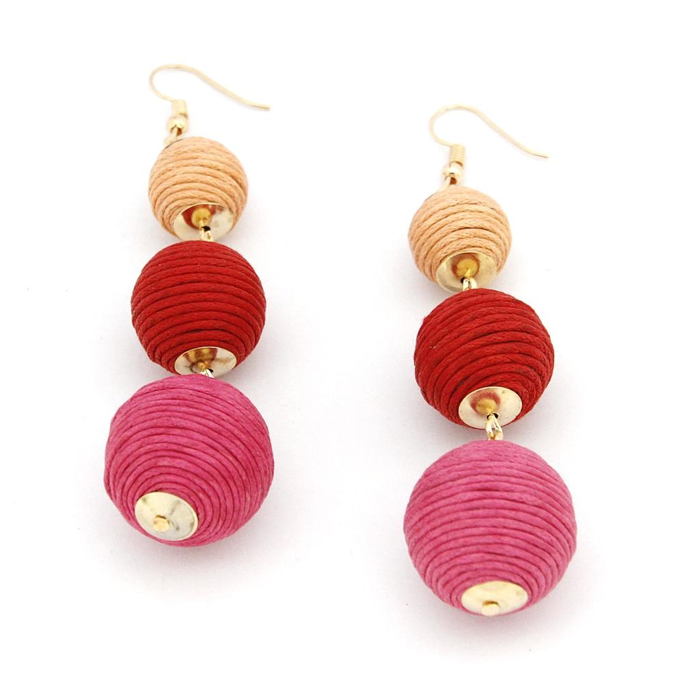 Legenstar Thread Ball baumeln Ohrringe für Frauen Pom Pom Drop - Modeschmuck - Foto 4