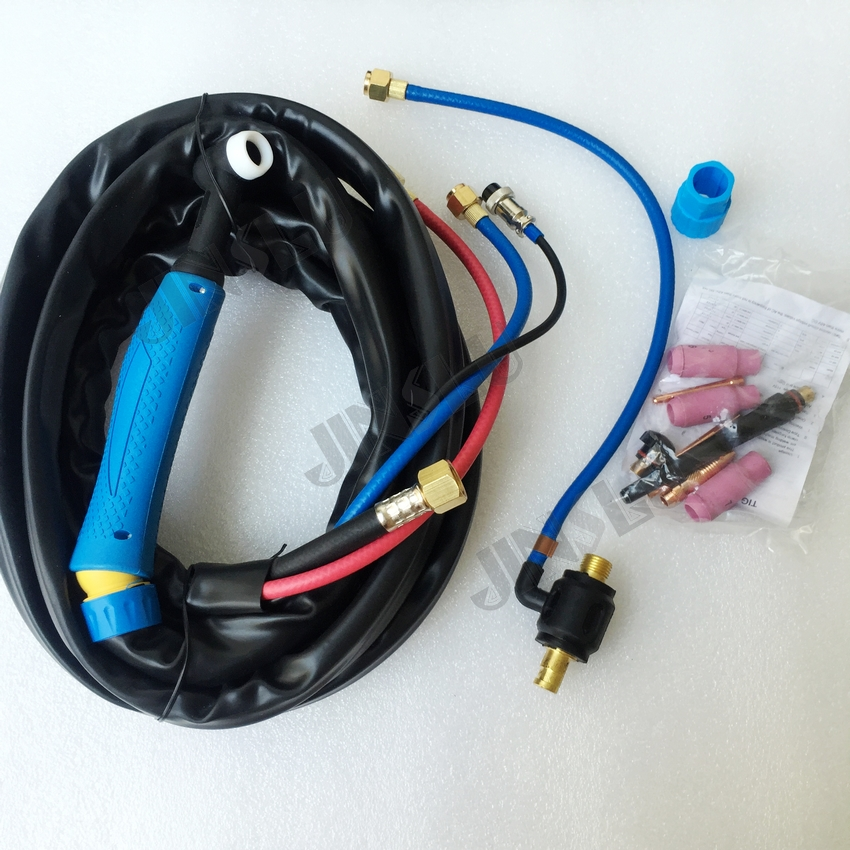 WP-18 WP18 Water cooled Welder Torch Welding Tig Torch Blue Handle 4M Water And Electric Separate swivel head tig torch complete wp 18 wp 18 water cooled 8m 25feet dinse 35 50 water and electric seperated 1pcs