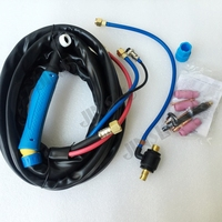 WP 18 WP18 Water cooled Welder Torch Welding Tig Torch Blue Handle 4M Water And Electric Separate