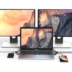 Image 5 - EASYA Thunderbolt 3 Adapter USB Type C Hub naar HDMI Rj45 1000 M USB C Dock met PD Gegevens USB 3.0 port voor MacBook Pro/Air 2018