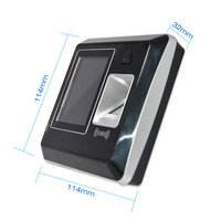 Security Guard Smart Rfid Card Reader Biometric Time in Time Out Finger print Time Attendance System HS 220T