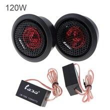 2pcs 120W Car Dome Tweeter Audio Loudspeaker Stereo Treble Lound Speaker for Vehicle Auto Sound System