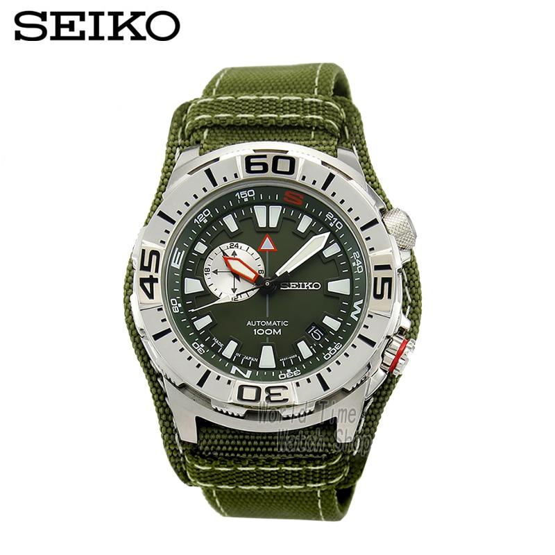 c1250585683 SEIKO Relógio de mergulho esportes ao ar livre à prova d  água de mesa  cinta de nylon forma masculina relógio mecânico automático SSA055J1 em  Relógios ...