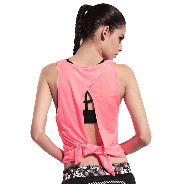 Sexy Backless Fitness Tank Tops