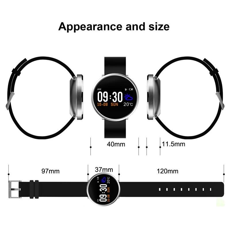 Montre intelligente Bluetooth Android IOS Smartwatch appel téléphonique rappel Calories moniteur de fréquence cardiaque Bracelet de marque BOAMIGO - 6
