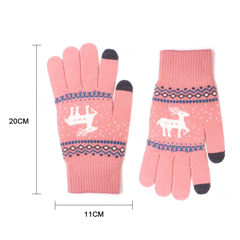 Baby Kids Boys Girls Winter Warm Gloves Soft Solid Knitted Thickened Mittens US