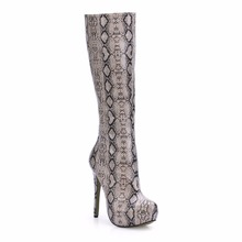 2016 Winter Sexy Party Shoes Women Stiletto High Heels Ladies Knee-High Boots Zapatos Mujer 3463BT-b8 2016 winter sexy party shoes women stiletto high heels ladies knee high boots zapatos mujer 3463bt q3
