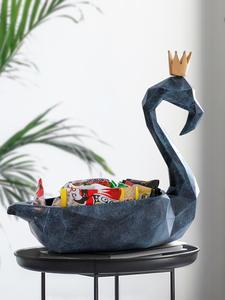 Make-Up-Organizer Sculpture Figurine Statue Flamingo Control-Storage-Box Home-Decor Mobile-Phone-Tools
