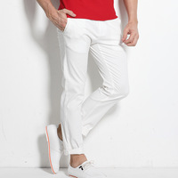 Fengguilai New Spring Summer Casual Khaki White Stretch Men Cotton Pants Lightweight Full Straight Hombre Men 'S Pants Plus