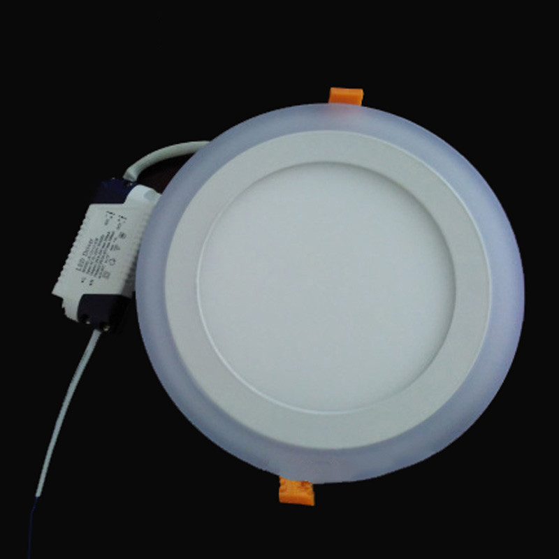 Double Color LED Ceiling Light 6W 9W 16W 24W Recessed Ceiling Lamp Round Square Panel Spot Light AC85-265V Indoor LED Bulb