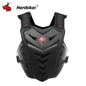 Image 2 - HEROBIKER motosiklet zırh yelek motosiklet koruma motosiklet sürme göğüs zırh Motocross yarış yelek ve motosiklet diz pedleri