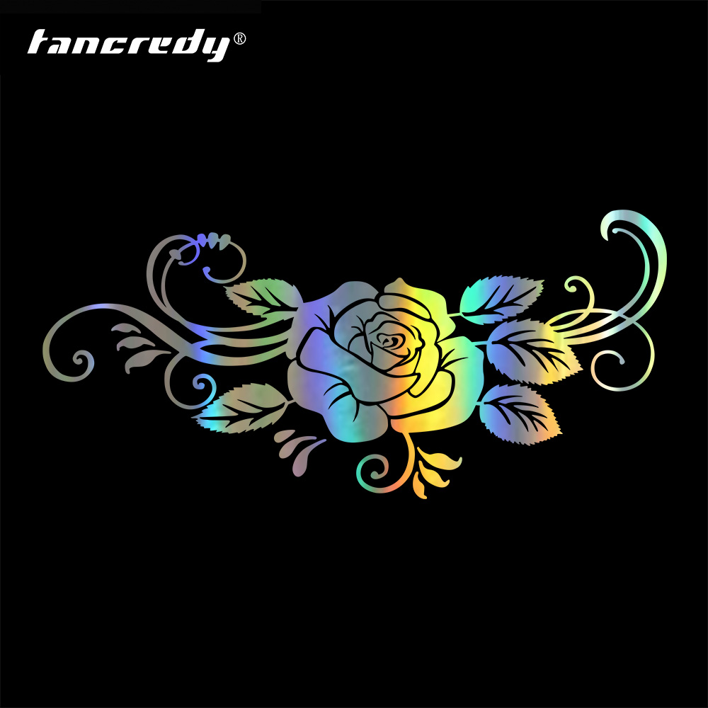 Tancredy Car Bumper Sticker The Beautiful Rose Flower Vinyl For Car Body Window Car Stickers and Decals Car Styling Accessories