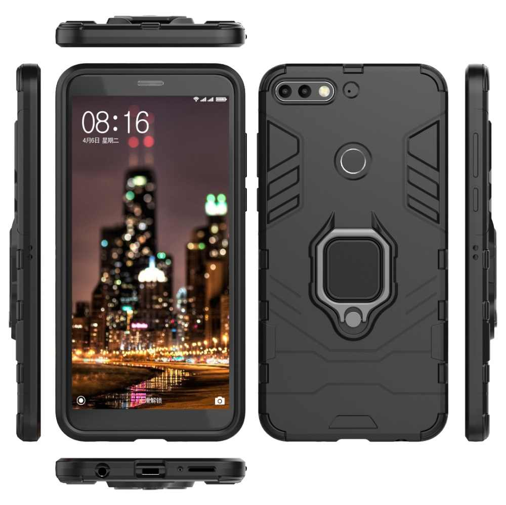 Case For Huawei Y6 Y7 Prime Y9 2018 Kickstand Finger Ring Case For Huawei P Smart Plus 2019 Nova 3 3e 3i 4 4e Phone Case Cover