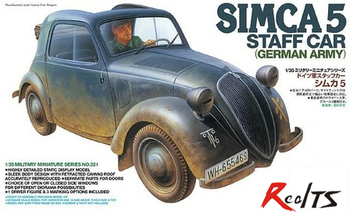 RealTS TAMIYA MODEL 1/35 SCALE military models # 35321 German Stuff Car Simca 5 plastic model kit