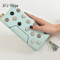 Free Shipping New Fashion PU Women Long Wallets 5 Colors Solid Practical Portable Tassel Purse Delicate