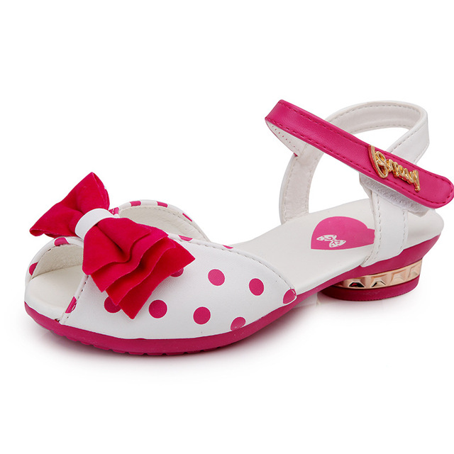 7efbd87b3 OMDS New Children s Polka-dot Bow Fish-mouth Shoe Girl Sandal Summer  Princess Student Shoe Middle Child Yxx