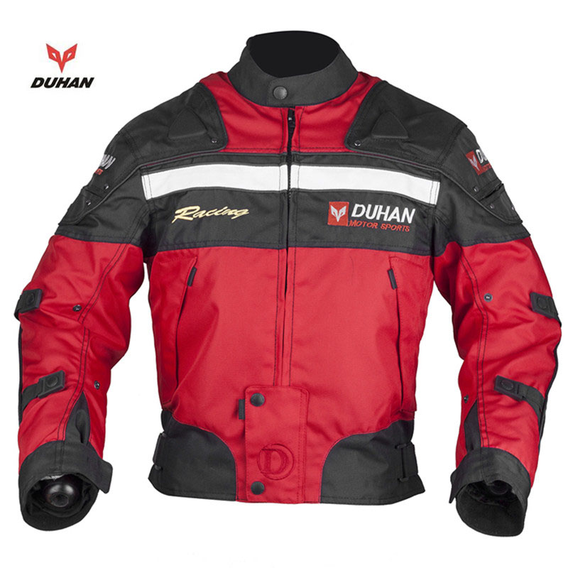DUHAN Motorcycle Armor Protective jackets Dirt Bike Riding jacket Jersey Cotton Liner Protective Gear Motocross Clothing
