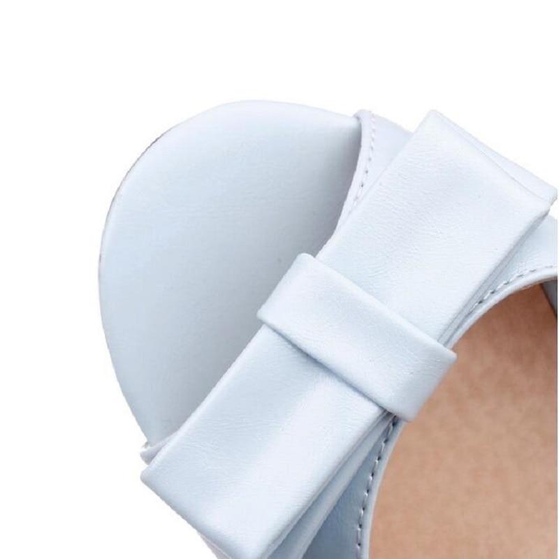 Sandali Delle Donne Donne Sexy Peep Toe Tacco Alto Sandali Chanel pompe  Dolce Bow Scarpe Bianche Sandali Estivi Scarpe Grande Formato 33 43 in Sandali  Delle ... 0cae368ad65e