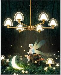 Nordic nowoczesny doprowadziły świetlika wisiorek światła oprawa lampy Droplight dom kryty jadalnia restauracja salon oświetlenie sufitowe w Wiszące lampki od Lampy i oświetlenie na