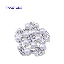 Nueva llegada romántica moda mujer Vintage perla simulada molino broches joyería para accesorios de boda artículo fantástico NO.: BH8191