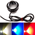 1 pcs Car Fog Light 15W DRL Eagle Eye Light Daytime Running Reverse Backup Parking White, Blue, Red Waterproof