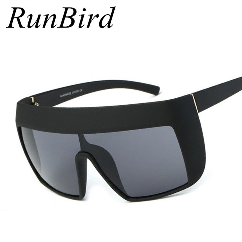 Runbird Shield Oversized Sunglasses Men Women Celebrity -6894