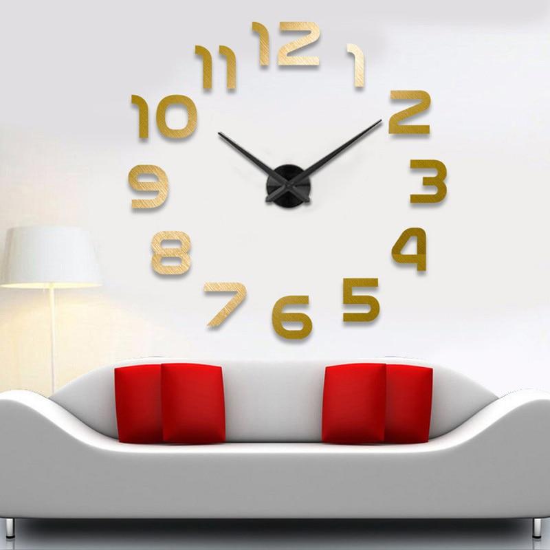 Μεγάλα ρολόγια ρολογιών τοίχου horloge 3d - Διακόσμηση σπιτιού - Φωτογραφία 6