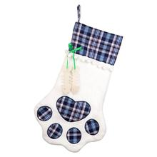 ourwarm 46x28cm big pet christmas stockings for dogs cat red blue plaid christmas socks sack new - Blue Christmas Stocking
