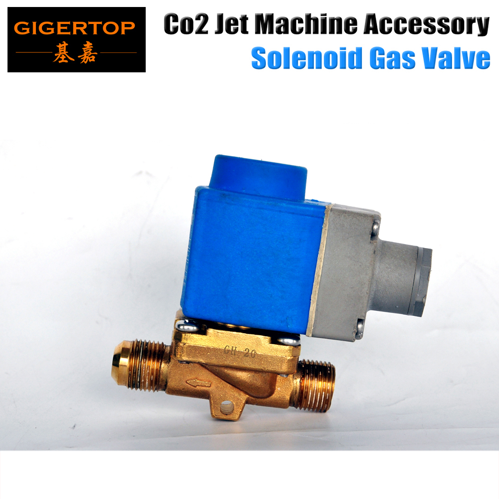 TIPTOP Stage Light Co2 Jet Machine Solenoid Valve with Brass Fitting suit for Co2 Club Cannon 100V/240V Carbon-Dioxide Generator 8m stage co2 jet effect machine high pressure resin hose to connect with co2 gas tank