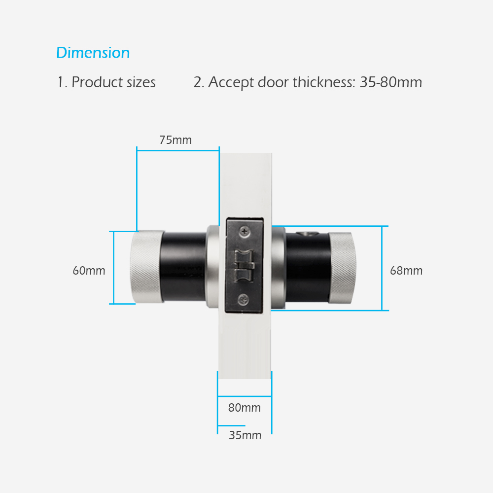 Image 4 - Keyless Security Electronic Fingerprint Door Lock  App Wifi Door Lock Smart  Bluetooth  Door Lock  For Home Apartment-in Electric Lock from Security & Protection