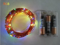 10M 33ft 80 Led 3AA Battery Powered Outdoor Led Copper Wire String Lights For Christmas Festival