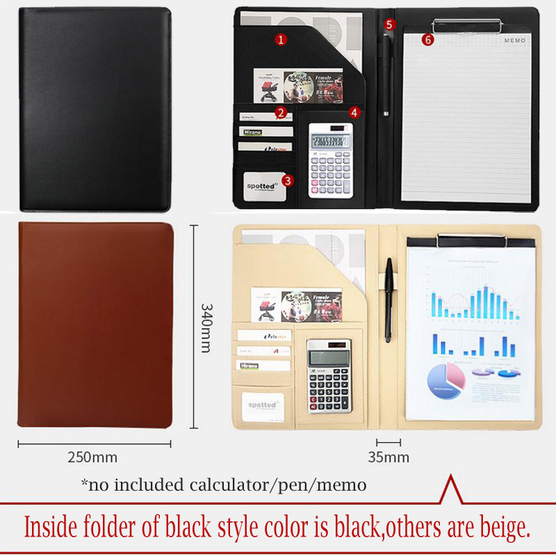 hua jie a4 portfolio resume folder expanding document file bag with clipboard pen holder card slot business padfolio protectors in padfolio from office - Resume Folder