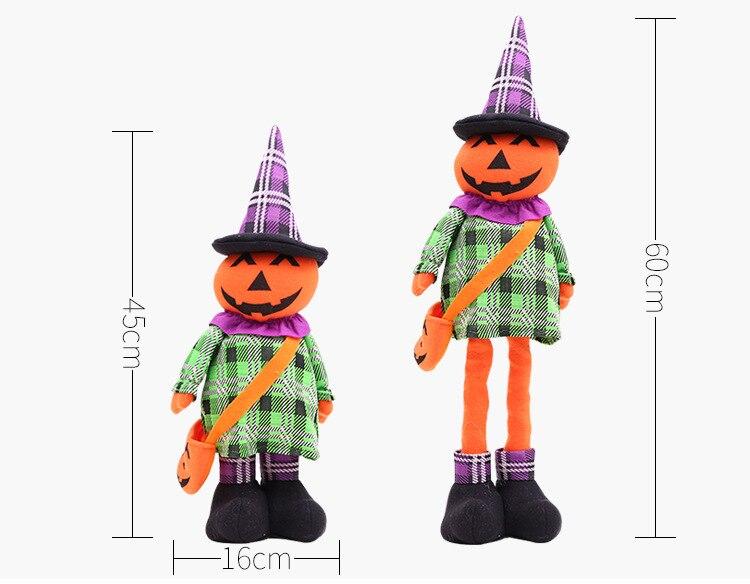 Décorations d'halloween poupées ornements citrouille sorcières poupées Halloween fêtes scène disposition Halloween décorations enfants cadeaux