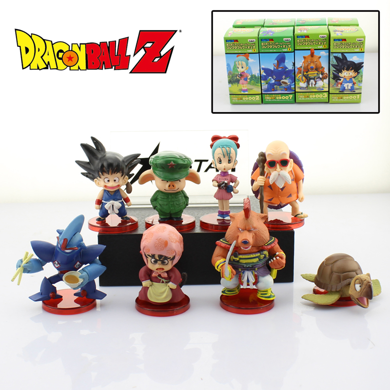 Free Shipping 8pcs Mini Dragon Ball Z Anime Solid Set WCF 1st Ver. Boxed PVC Action Figure Model Doll Toys Gift or Keyring стоимость