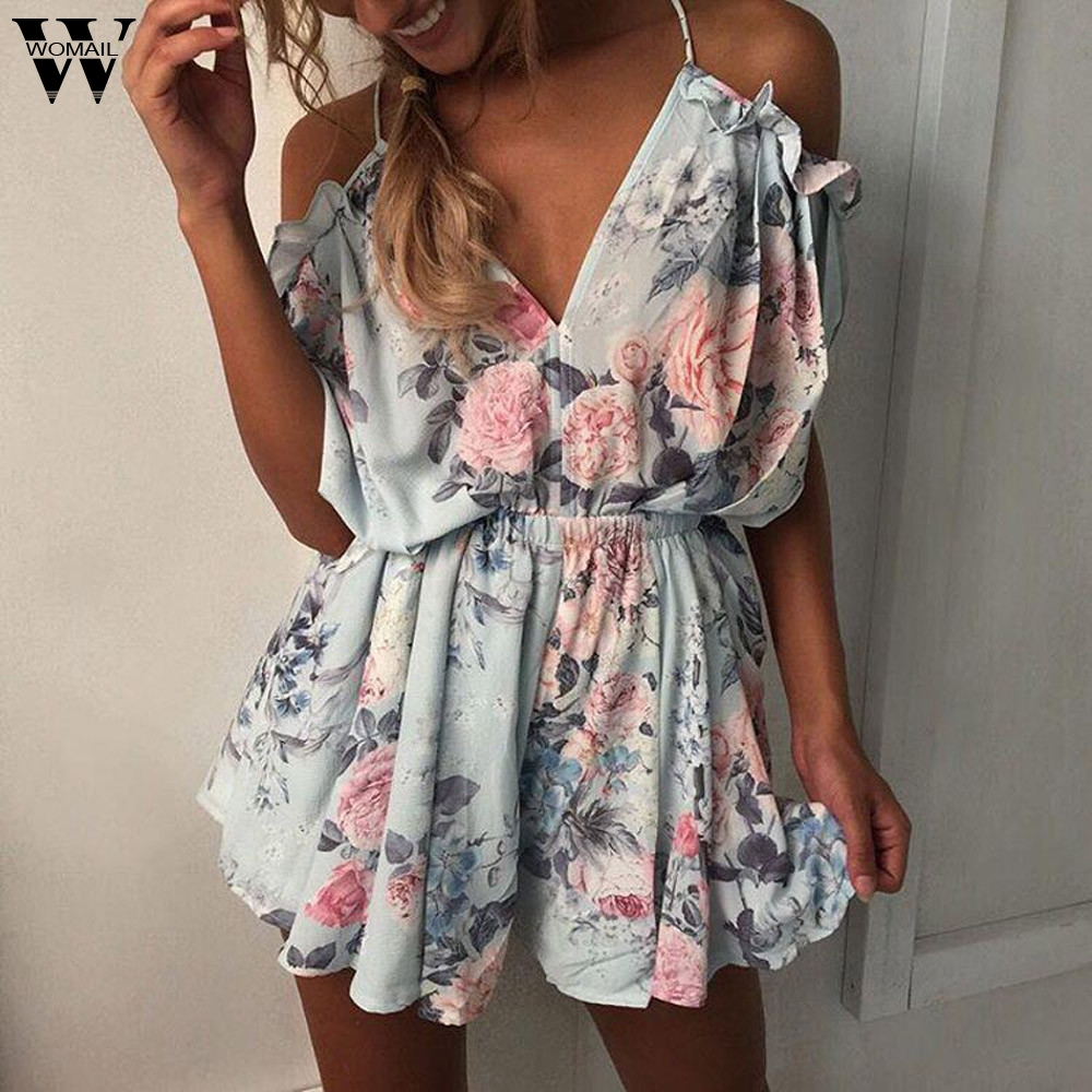 Rompers Womens V-neck Sleeveless Strappy Holiday Short Playsuits Striped Cami Belt Romper Jumpsuit Mono Para Mujer Rompers Combi Mujera1