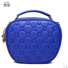 2017 NEW top handle women bag pu leather handbags bolsa feminina classic shoulder messenger bags luxury yellow/blue/pink