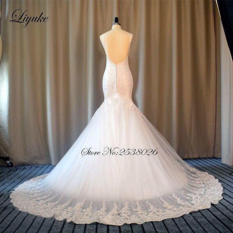 Liyuke Elegantní miláčik výstřih Kvalitní mořská panna - Svatební šaty - Fotografie 5