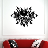 Skull Sticker Punk Death Decal Devil Poster Name Car Window Art Wall Decals Parede Decor Mural