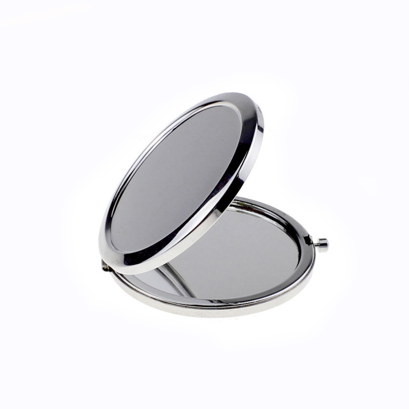 100set personalized wedding gifts for guest nice quality Folding Double sided Steel Makeup Mirrors custom free wtih any text in Party Favors from Home Garden