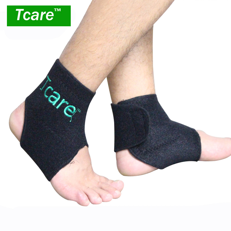 Tcare 1Pair Tourmaline Self-heating Ankle Support Magnetic Therapy Ankle Support Tourmaline Ankle Belt Foot Health Care