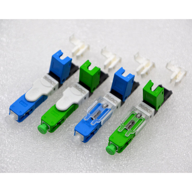 GONGFENG NEW Hot Selling 100PCS Optic Fiber Quick Connector FTTH SC Single Mode Fiber Optic Fast Connector Special Wholesale