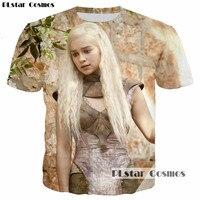 PLstar Cosmos Fantasy Drama Game Of Thrones Smart Beautiful Dragon Queen 3D Print T Shirt Women