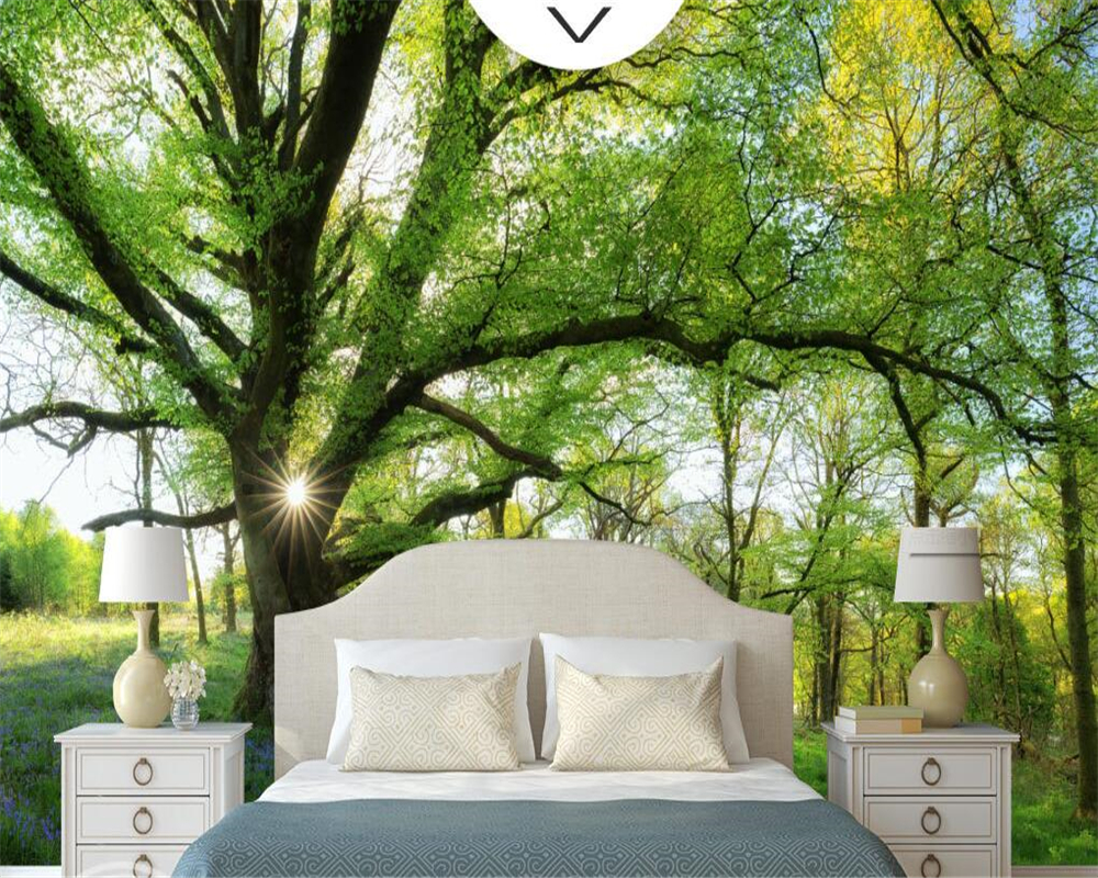 Photo Wallpaper For Walls Beibehang Natural Sunshine Forest Tree Beautiful Photo 3D