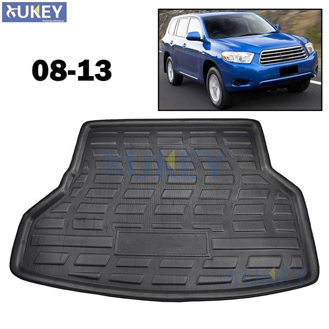 fit for toyota highlander kluger rear trunk mat cargo tray boot liner carpet
