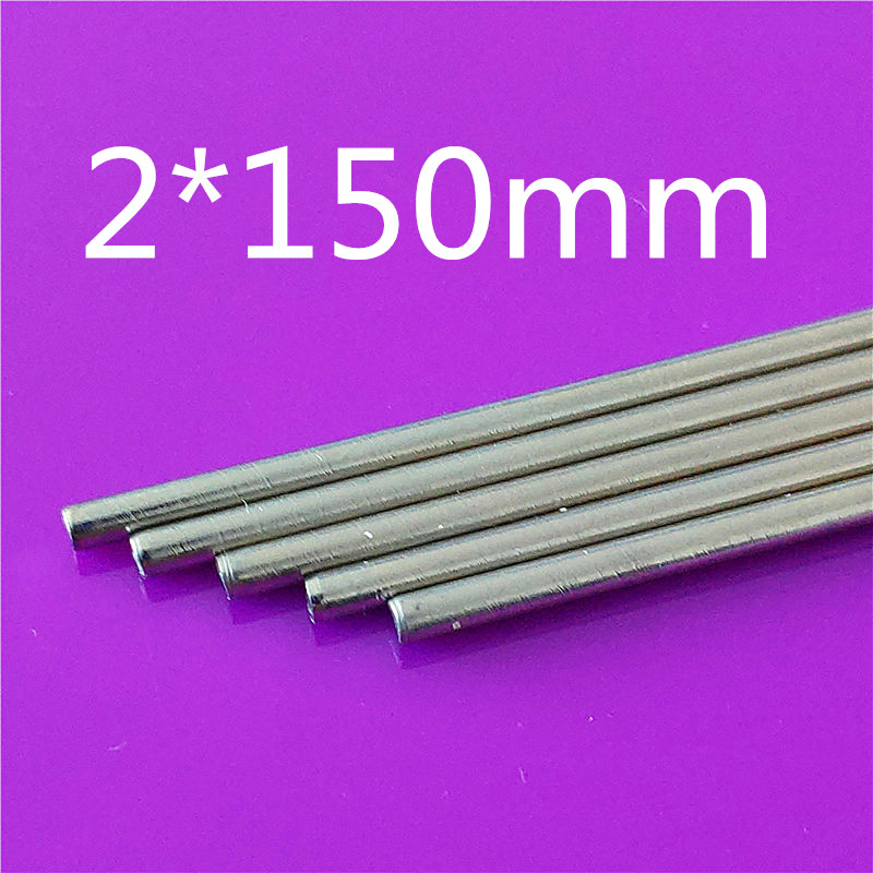 K868b 5pcs/lot Stainless Steel Model Car Axles 2mm Diameter Steel Shaft Thin Metal Stick 150mm Length Sell at a Loss image
