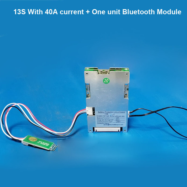 US $6 2 15% OFF|48V Smart bluetooth BMS system with 30A discharge current  for 54 6V Battery system E Bike li ion Battery software PCB Board-in